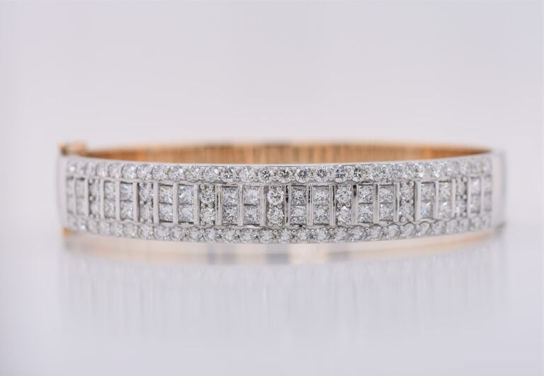 Gallery - DM Jewellers Maroochydore 18ct Rose and White Gold Diamond Bracelet