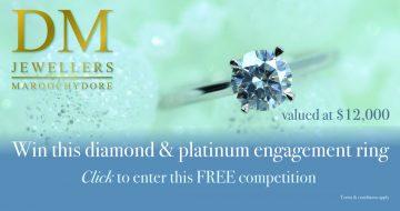 DM Jewellers diamond and platinum engagement ring banner